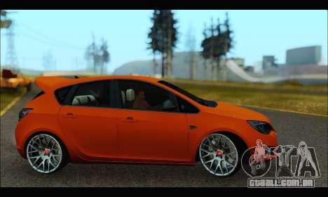 Opel Astra J para GTA San Andreas traseira esquerda vista