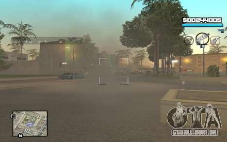 Blue C-HUD para GTA San Andreas por diante tela