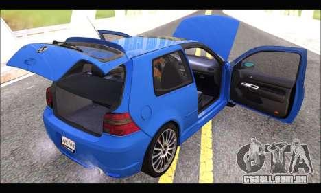 VW Golf R32 - Stock para GTA San Andreas vista traseira