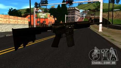 M4 from GTA 4 para GTA San Andreas segunda tela