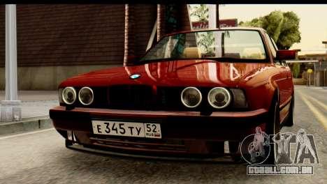 BMW 525i E34 para GTA San Andreas vista interior