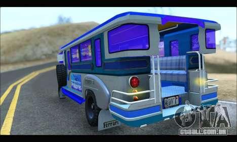 Light Jeepney para GTA San Andreas vista direita