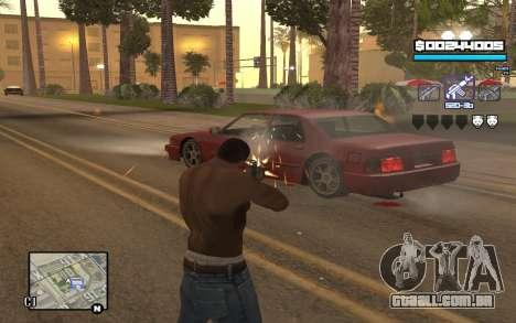Blue C-HUD para GTA San Andreas segunda tela
