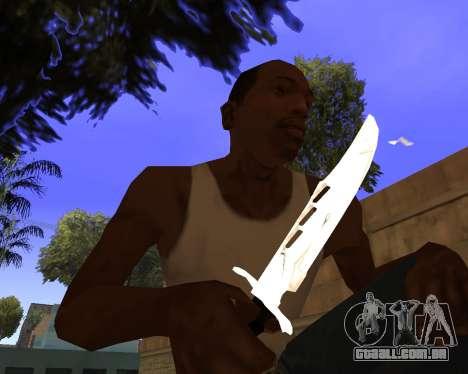 White Chrome Gun Pack para GTA San Andreas twelth tela