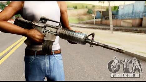 M4 from Metal Gear Solid para GTA San Andreas terceira tela