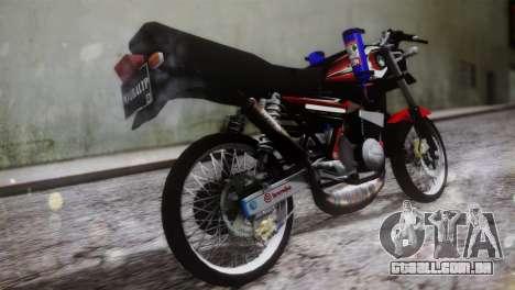 Yamaha RX King para GTA San Andreas esquerda vista