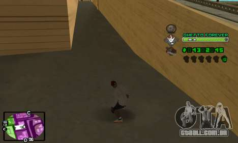 C-HUD Ghetto 4ever para GTA San Andreas