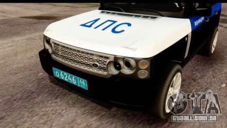 Land Rover ДПС para GTA San Andreas vista direita