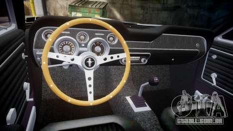 Ford Mustang GT Fastback 1968 Auto Drag III para GTA 4 vista de volta