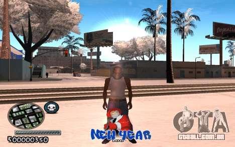 C-HUD New Year para GTA San Andreas