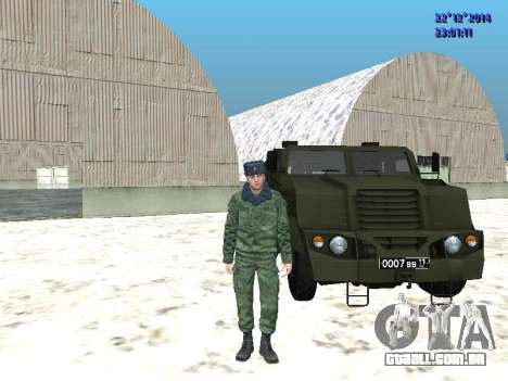 MIC-3924 Blindados Urso para GTA San Andreas esquerda vista