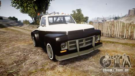 Vapid Towtruck Restored striped tires para GTA 4
