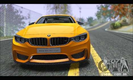 BMW M4 F80 Coupe 1.0 2014 para GTA San Andreas traseira esquerda vista
