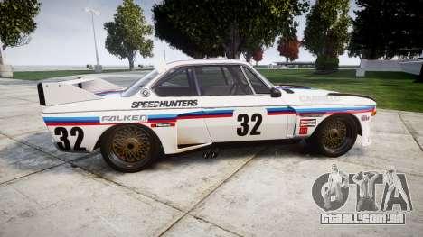 BMW 3.0 CSL Group4 [32] para GTA 4 esquerda vista