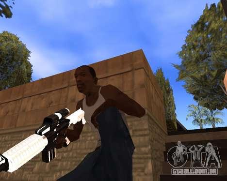 White Chrome Gun Pack para GTA San Andreas nono tela