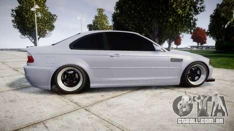 BMW E46 M3 para GTA 4 esquerda vista