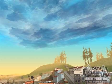 Céu realista para GTA San Andreas terceira tela