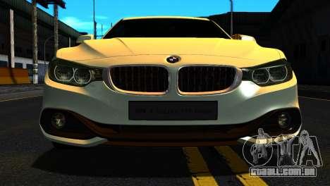 BMW 4-series F32 Coupe 2014 Vossen CV5 V1.0 para GTA San Andreas vista interior
