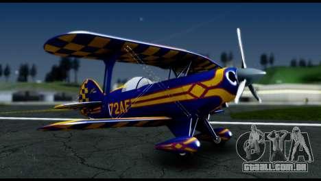 Alabeo PITTS S2S Blue para GTA San Andreas traseira esquerda vista