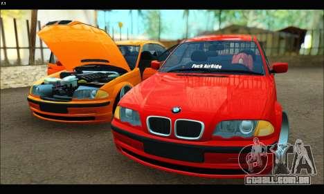 BMW e46 Sedan para vista lateral GTA San Andreas