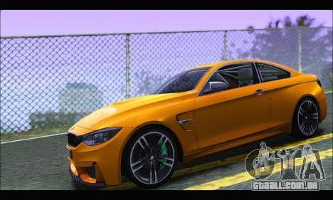 BMW M4 F80 Coupe 1.0 2014 para GTA San Andreas esquerda vista
