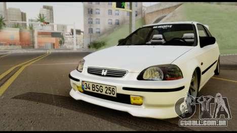 Honda Civic 1.4 Mehmet ALAN para GTA San Andreas