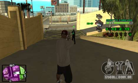 C-HUD Ghetto 4ever para GTA San Andreas terceira tela