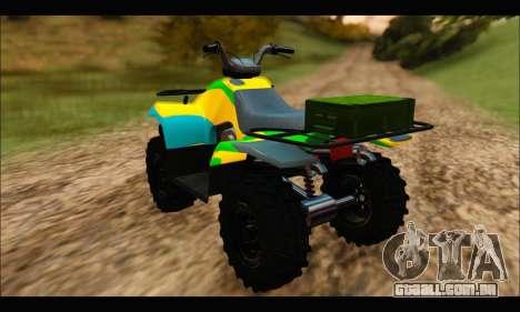 ATV Color Camo Army Edition para GTA San Andreas esquerda vista