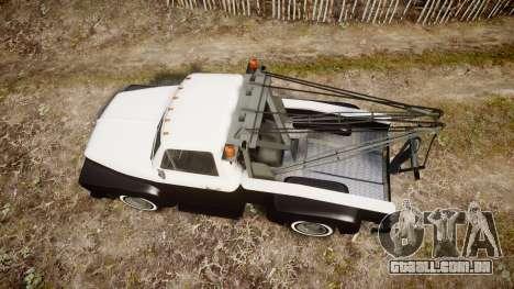 Vapid Towtruck Restored striped tires para GTA 4 vista direita