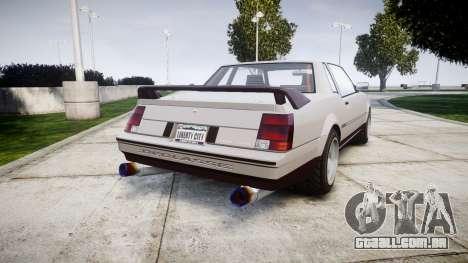 Declasse Sabre Superpower para GTA 4 traseira esquerda vista