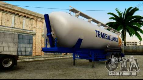 Mercedes-Benz Actros Trailer Transalliance para GTA San Andreas vista direita