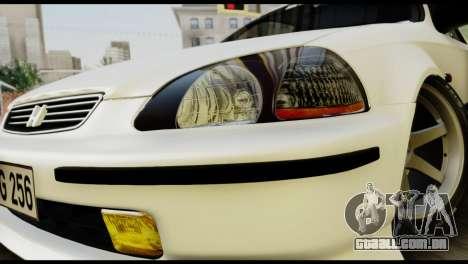Honda Civic 1.4 Mehmet ALAN para GTA San Andreas vista traseira