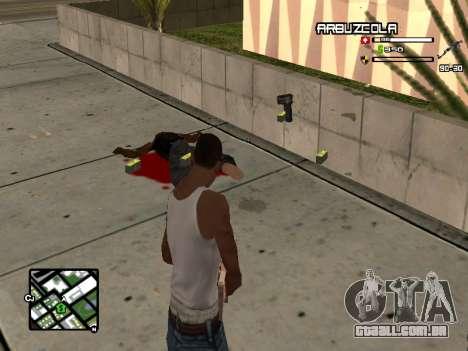 CLEO HUD by SampHack v.20 para GTA San Andreas segunda tela