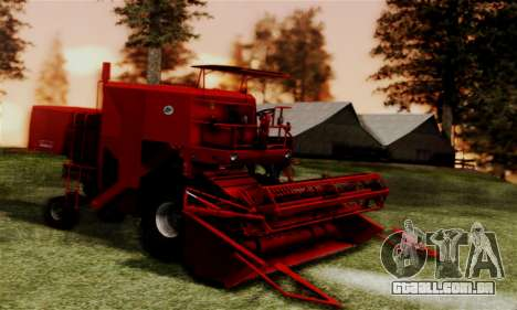 FMZ BIZON Super Z056 1985 Red para GTA San Andreas traseira esquerda vista