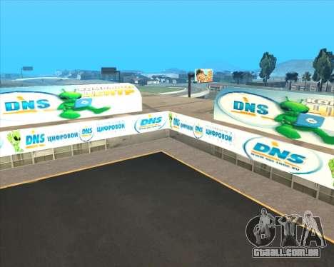 Substituição de publicidade (banners) para GTA San Andreas oitavo tela
