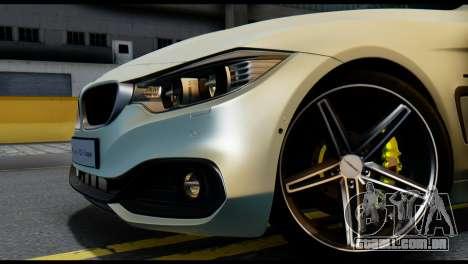 BMW 4-series F32 Coupe 2014 Vossen CV5 V1.0 para GTA San Andreas traseira esquerda vista