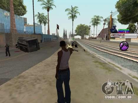 C-HUD Ghetto para GTA San Andreas quinto tela