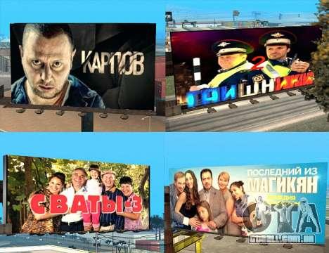 Substituição de publicidade (banners) para GTA San Andreas sexta tela