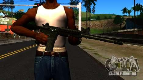M4 from GTA 4 para GTA San Andreas terceira tela