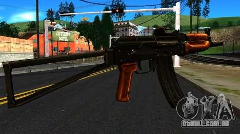 Brilhante AKS-74U v1 para GTA San Andreas