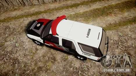 Chevrolet Blazer 2010 Tactical Force [ELS] para GTA 4 vista direita