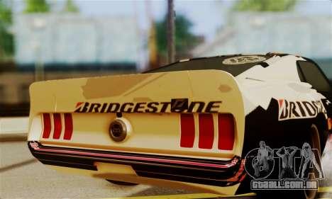 Ford Mustang RTR RedBull para GTA San Andreas vista direita
