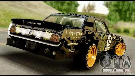 Ford Mustang 1965 Ken Block para GTA San Andreas esquerda vista