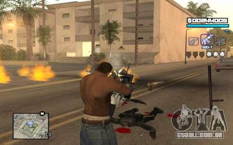 Blue C-HUD para GTA San Andreas terceira tela