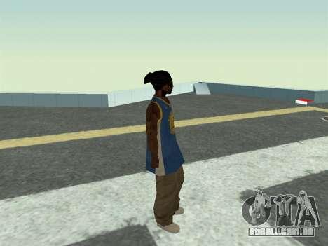 Ballas1 New Skin para GTA San Andreas por diante tela