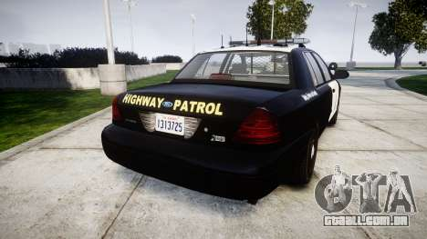 Ford Crown Victoria Highway Patrol [ELS] Liberty para GTA 4 traseira esquerda vista