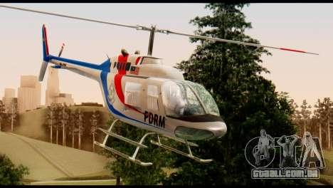 Malaysian Polis Helicopter Eurocopter Squirrel para GTA San Andreas vista direita