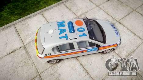 Vauxhall Astra 2005 Police [ELS] Britax para GTA 4 vista direita