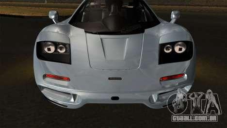 McLaren F1 Autovista para GTA San Andreas vista direita