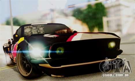 Ford Mustang RTR RedBull para GTA San Andreas traseira esquerda vista
